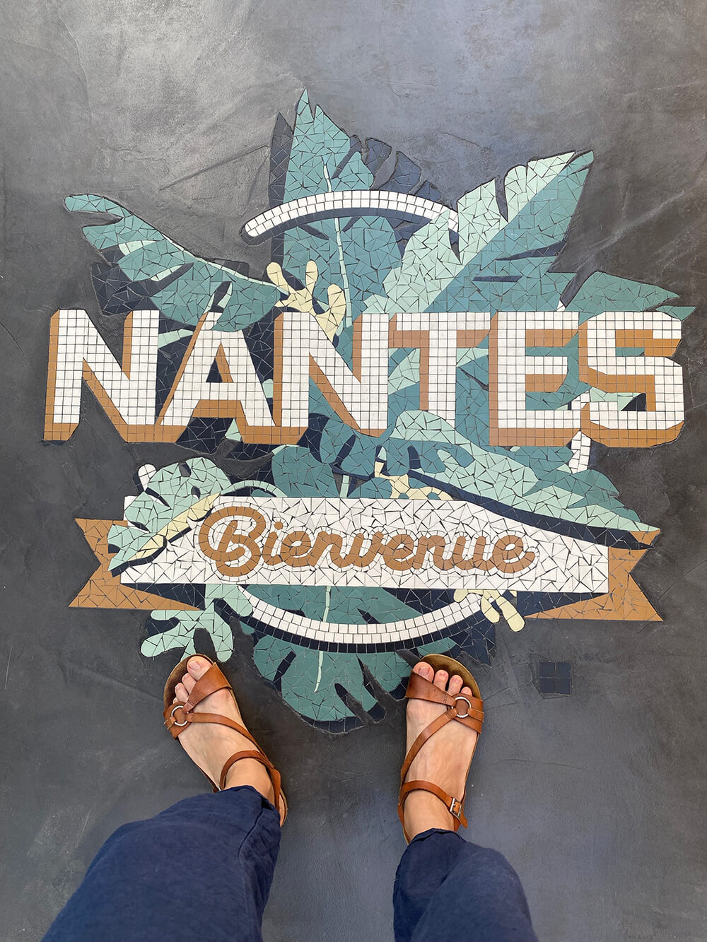 Mosaïque Nantes bienvenue