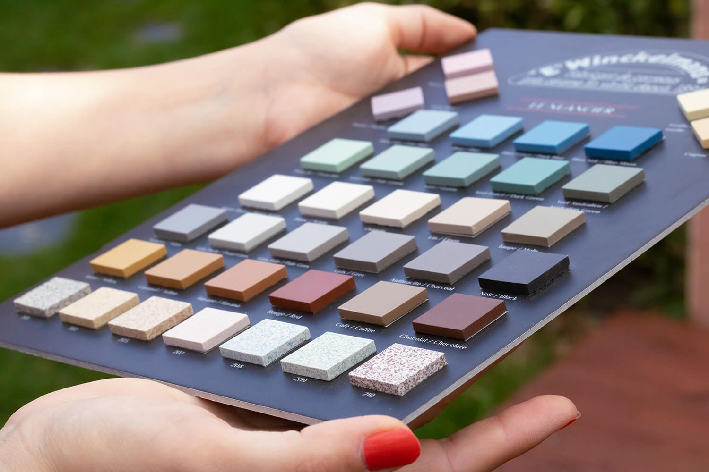 échantillons de couleurs gres cérame